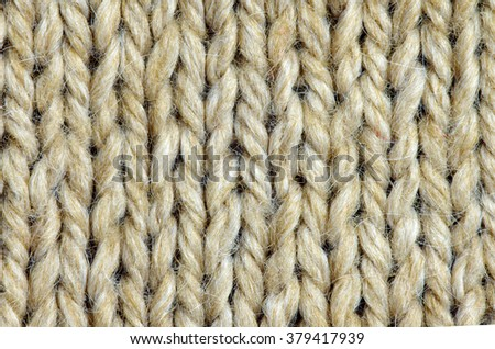 Natural Knitted Wool texture. Woven wool fabric background - stock photo