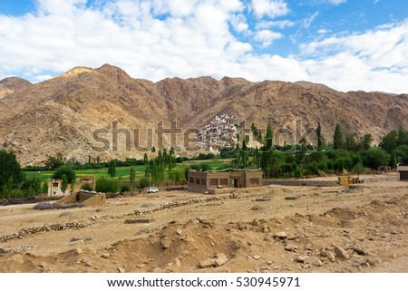 Natural landscape in Leh Ladakh, Jammu and Kashmir, India