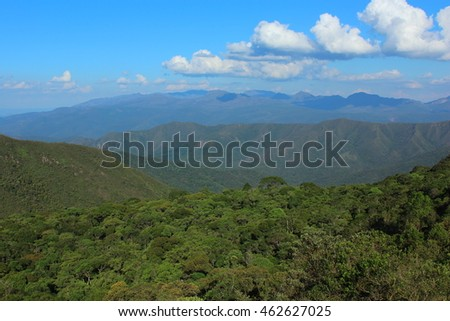natural landscape with mountains of Minas Gerais