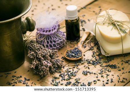 Natural Lavender Products  - stock photo