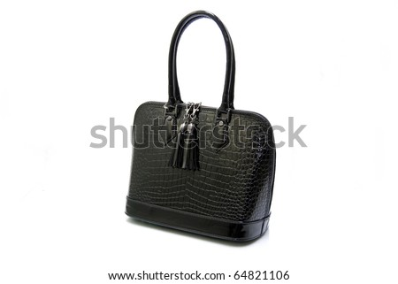 Natural Leather Handbag Isolated On White Background