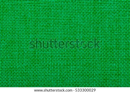 Natural linen fabric for embroidery. Green color.