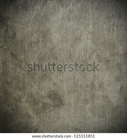 Natural linen stained grunge textured canvas burlap vintage background - stock photo
