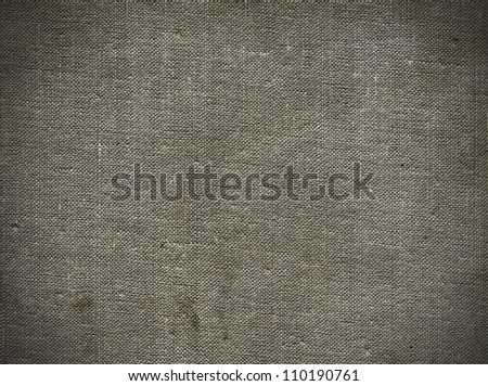 Natural linen striped grunge textured canvas burlap vintage background - stock photo
