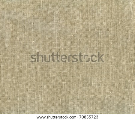 Natural linen striped uncolored textured sacking canvas background - stock photo