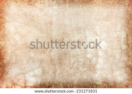 Natural linen texture and concrete wall for grunge background