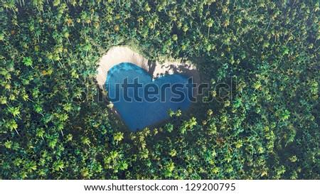 Natural love - stock photo