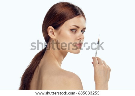 Natural make-up, cosmetic procedure, injection of beauty