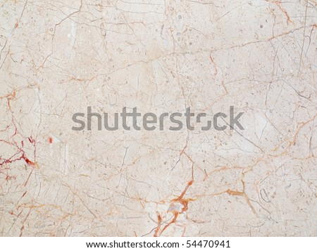 Natural marble tile with red veins - stock photo