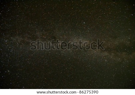 Natural Milky Way Galaxy - stock photo