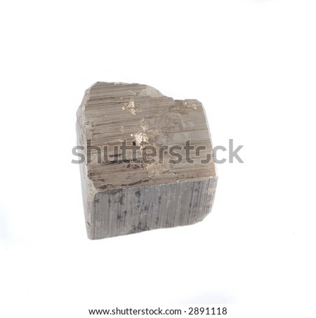 natural mineral - pyrite - stock photo