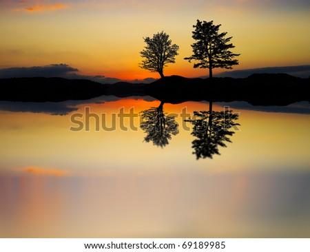 natural mirror - stock photo