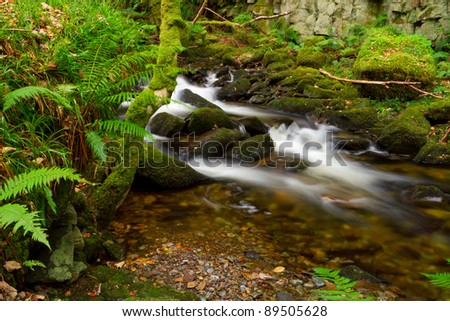 Natural mountain creek scenery - stock photo