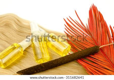 Natural Oil Hair Treatment - stock photo