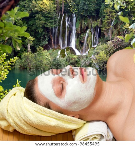 Natural outdoor spa treatment - stock photo