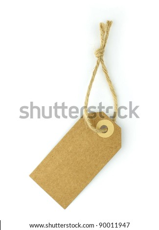Natural paper label - stock photo