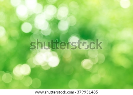 Natural Pastel Green and Yellow Abstract Bokeh Background - stock photo