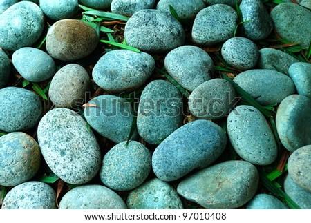 Natural Pebble Stones, close-up - stock photo