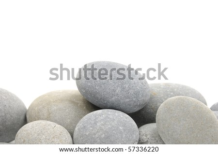Natural piles of sea pebbles