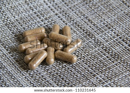 Natural plant extract pills - Nutritional Supplement Pills - stock photo