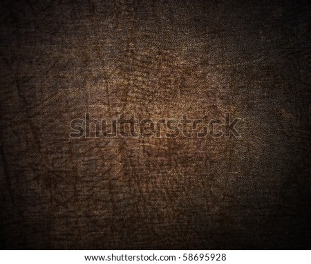 Natural qualitative beige leather texture. Close up. - stock photo