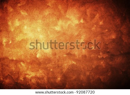 Natural qualitative orange leather texture. Close up. - stock photo