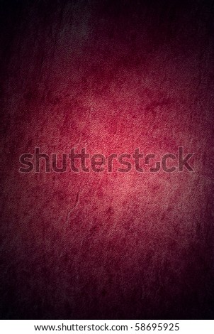 Natural qualitative red leather texture. Close up. - stock photo