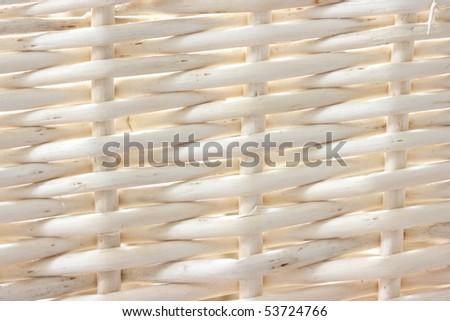 Natural ratan background - handmade weaving - stock photo