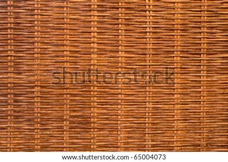 Natural rattan texture - stock photo