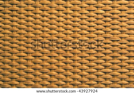 Natural rattan weave texture background - stock photo