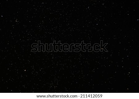 Natural real night sky stars background texture. - stock photo
