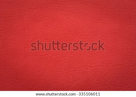 Natural red leather surface