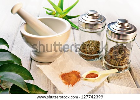 natural remedy - stock photo