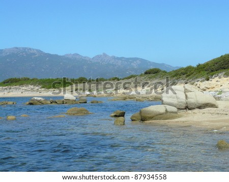 Natural reserve A Testa, Figari, Corsica - stock photo