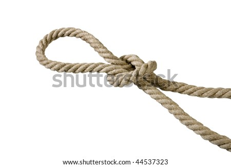 natural rope on the white background