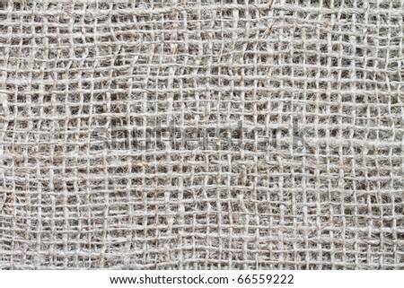 Natural rough burlap texture. - stock photo