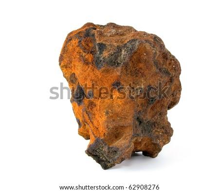 Natural sample of iron ore. - stock photo