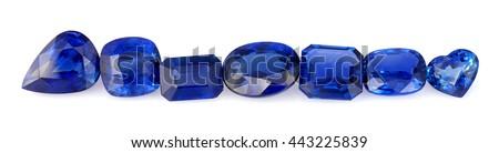 Natural Sapphire Gemstones - stock photo