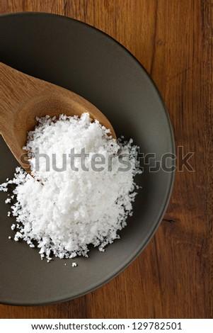Natural Sea Salt - stock photo