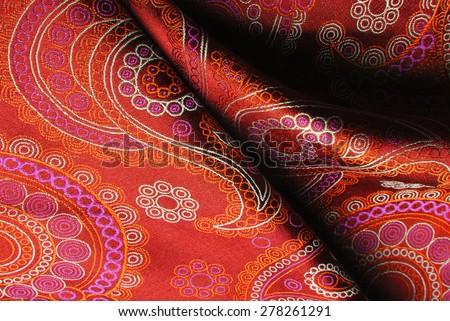 natural silk fold fabric texture - stock photo