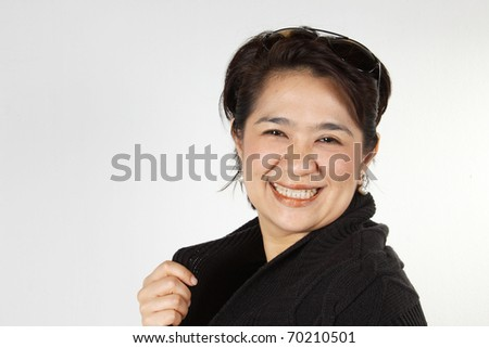 Natural smily woman, Asian Woman with natural smily face.