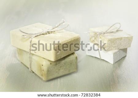 Natural Soap.Spa - stock photo