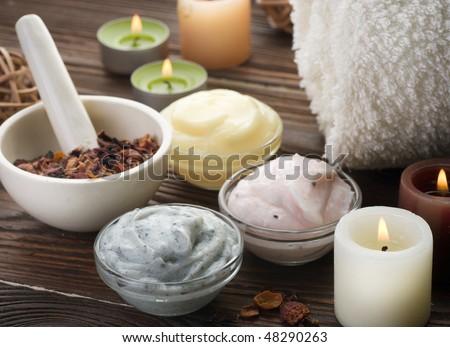 Natural Spa Cosmetics - stock photo