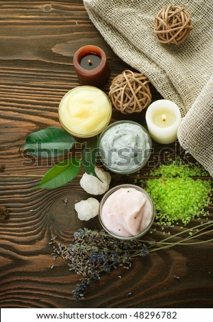 Natural Spa Cosmetics - stock photo