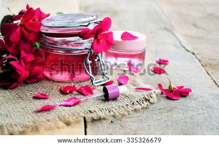 natural spa flower geranium, lifestyle - stock photo