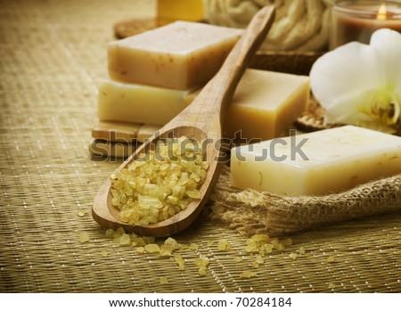 Natural Spa treatments - stock photo