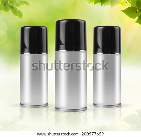 Natural sprays with clipping path. - stock photo