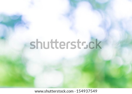 Natural Spring Green and Blue background with abstract defocused lights bokeh - stock photo