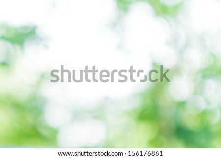 Natural Spring or summer Green and Blue background with abstract defocused lights bokeh - stock photo