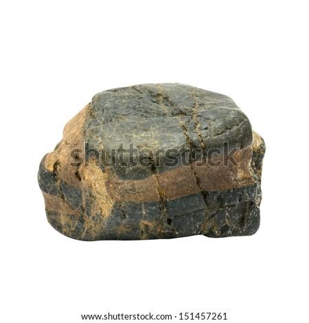 Natural stone isolated on white background  - stock photo